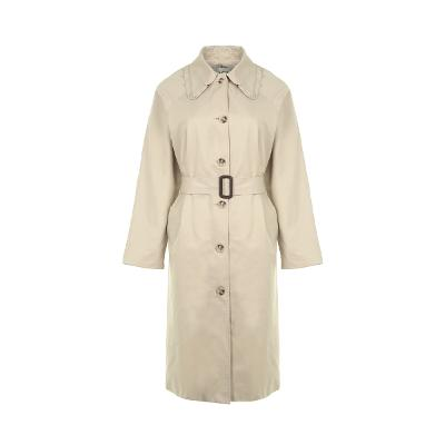 frill detail front button trench coat